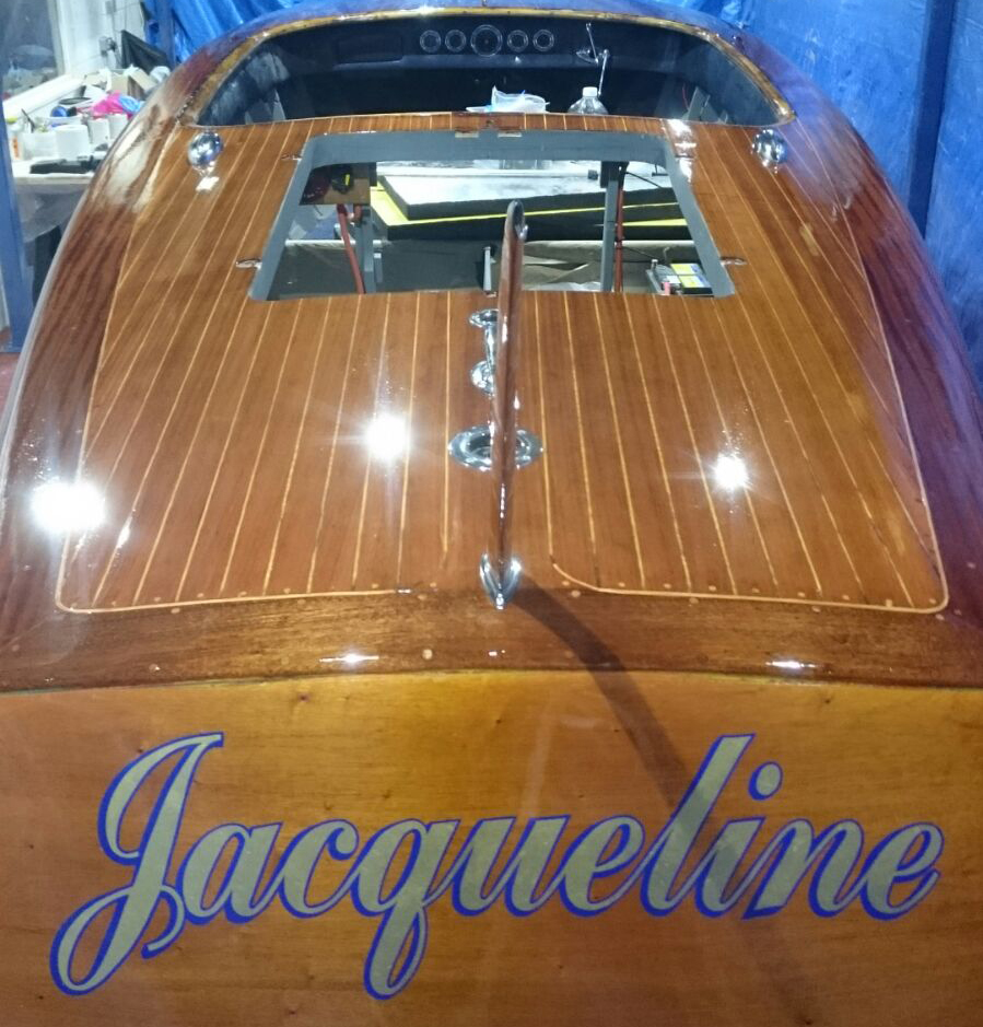 Photo of James's classic powerboat