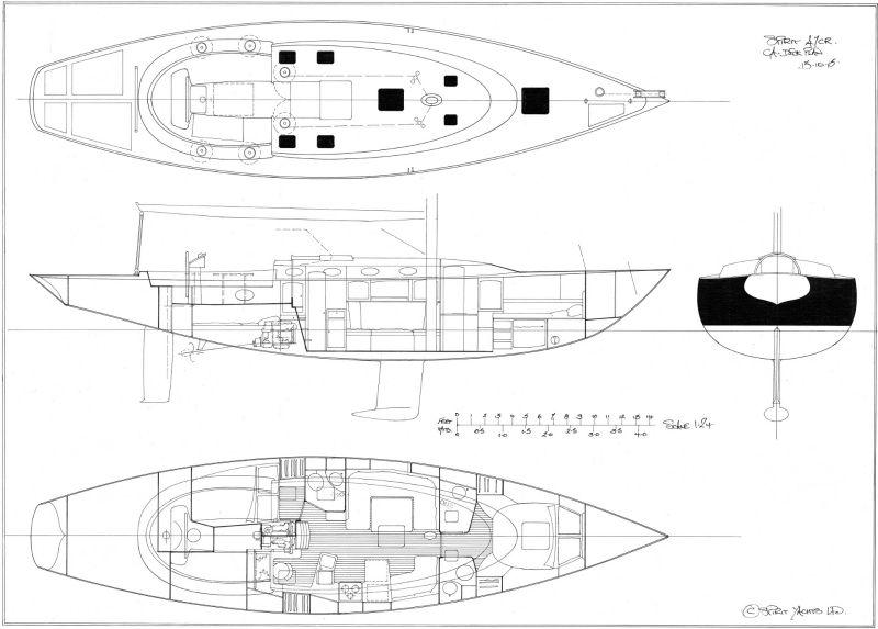 Spirit 47CR GA Deck Plan