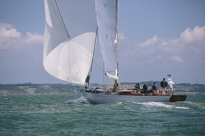 Oui Fling, the new 52ft race boat from Spirit Yachts races in the Panerai British Classic Week