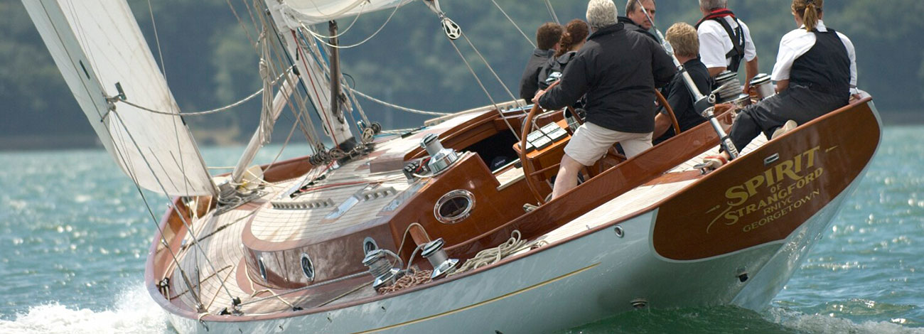 Spirit 56 | Stern View | Contemporary Wooden Sailboats