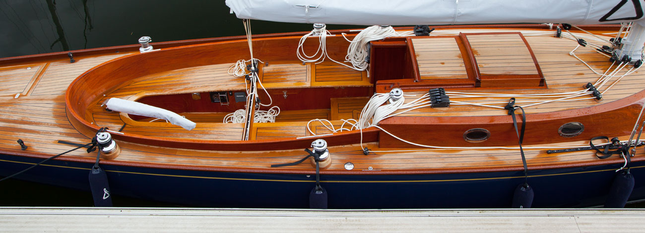 Docked Spirit 37 | Classic Handcrafted Sailboats