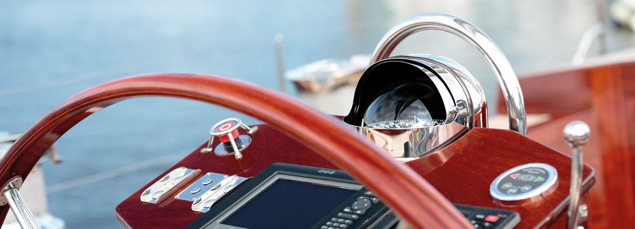 Wheel Detail | Spirit Yachts C 74